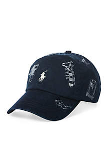 Polo Ralph Lauren Preppy-Print Baseball Cap