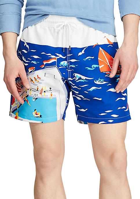 Polo Ralph Lauren 5.5 Inch Traveler Swim Trunks