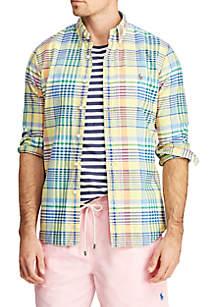 21b1b5f5317 IZOD Breeze Plaid Button-Down Shirt · Polo Ralph Lauren Long Sleeve Oxford  Shirt