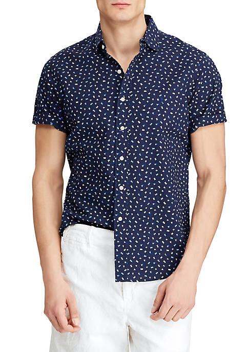 Polo Ralph Lauren Classic Fit Flag Print Shirt