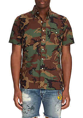 cf35ee01 Polo Ralph Lauren Classic Fit Camo Shirt ...