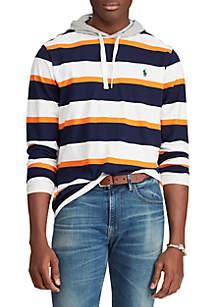 Polo Ralph Lauren Striped Cotton Hooded T-Shirt