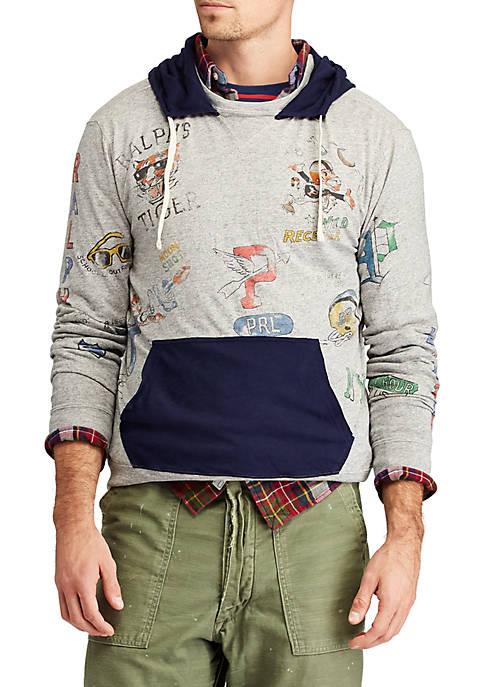 c73e3b44c Polo Ralph Lauren Cotton Jersey Graphic Hoodie