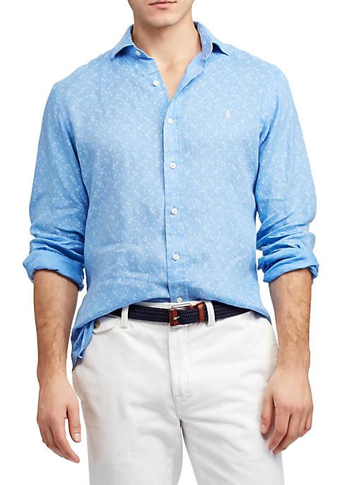 Polo Ralph Lauren Classic Fit Anchor Linen Shirt