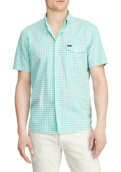 Classic Fit Gingham Poplin Shirt