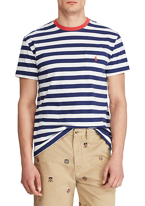 Polo Ralph Lauren Classic Fit Striped Pocket Tee