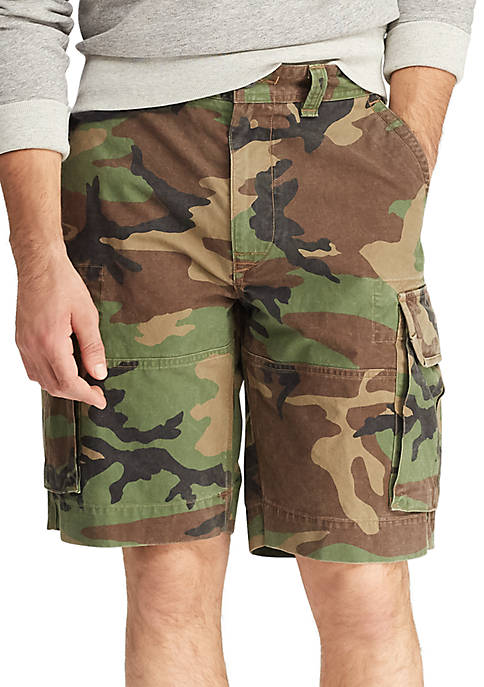 Relaxed Fit Camo Cargo Shorts