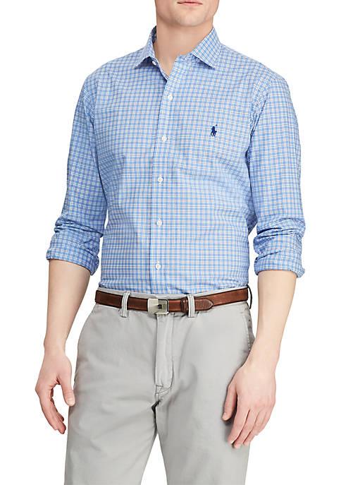 Classic Fit Plaid Shirt