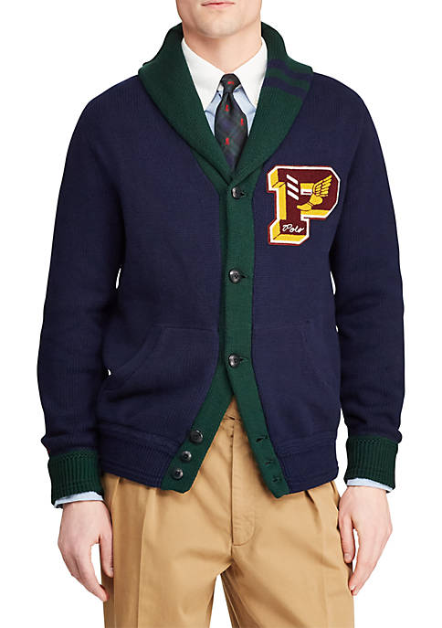 Polo Ralph Lauren Cotton Letterman Cardigan