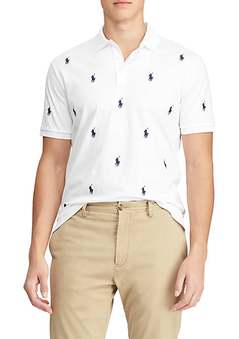 Classic Fit Allover Pony Polo
