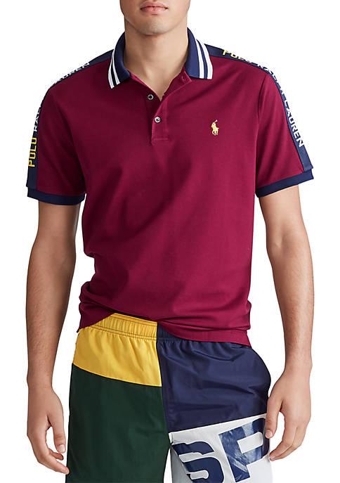 Classic Fit Stretch Mesh Polo Shirt