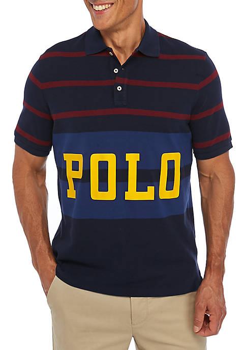 Classic Fit Retro Mesh Polo Shirt