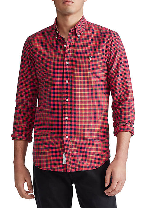 Polo Ralph Lauren Classic Fit Plaid Cotton Oxford