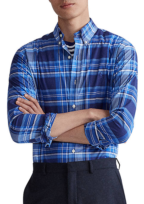 Polo Ralph Lauren Classic Fit Plaid Poplin Shirt