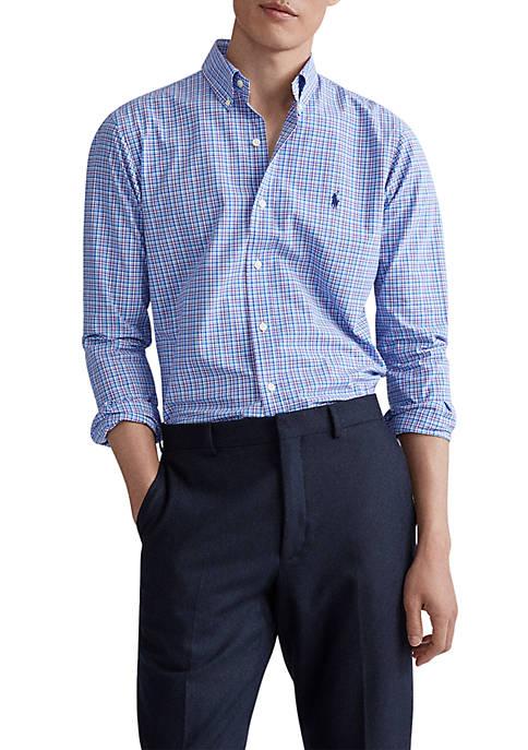 Polo Ralph Lauren Classic Fit Plaid Cotton Poplin