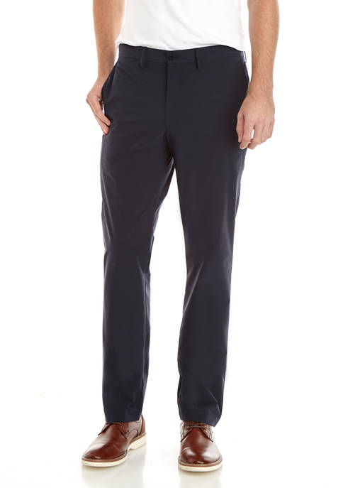 Mens Polyester Travel Flat Pants