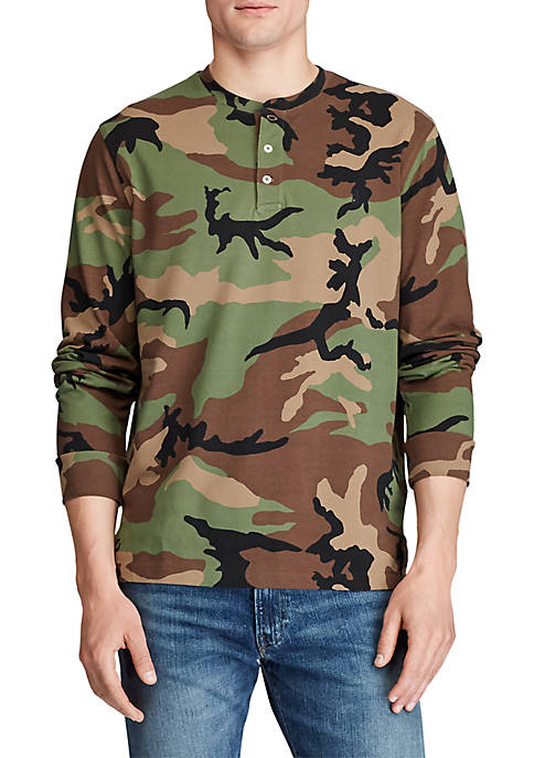 Polo Ralph Lauren Camo Featherweight Mesh Henley Shirt