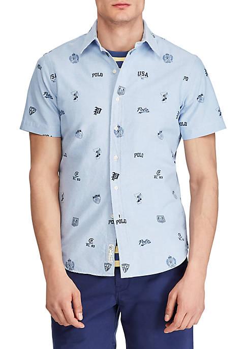 Classic Fit Print Oxford Shirt