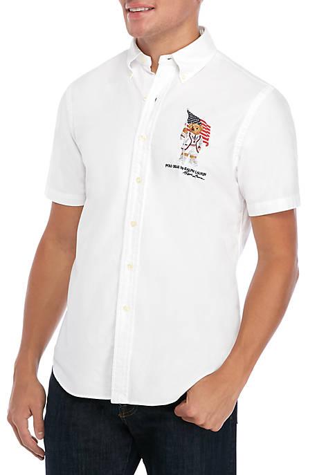 White Bear Flag Oxford Shirt