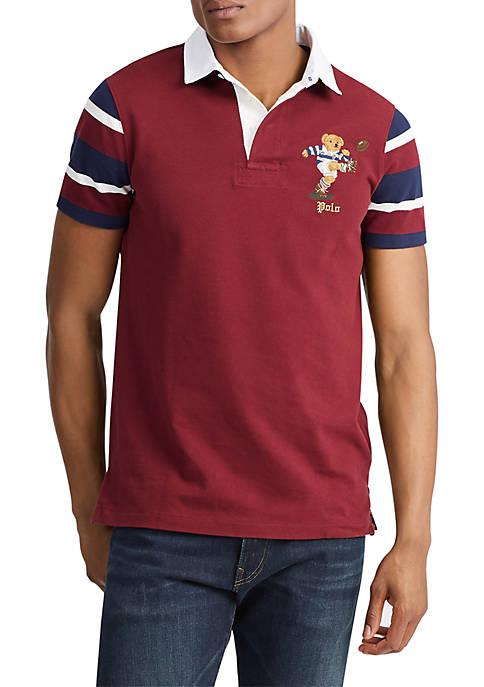 Custom Slim Fit Bear Rugby Shirt