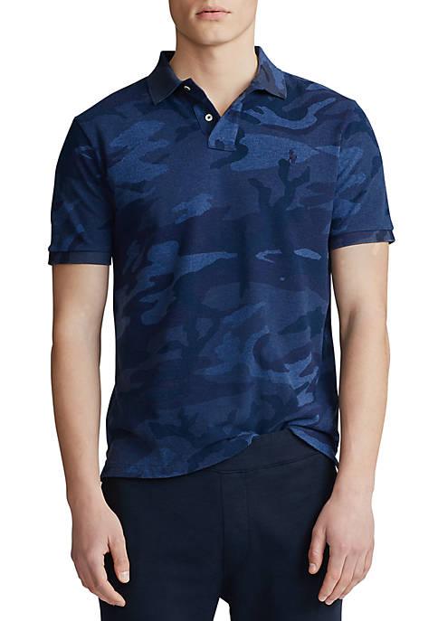 Classic Fit Camo Mesh Polo Shirt