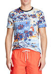Classic Fit Tropical-Print Tee