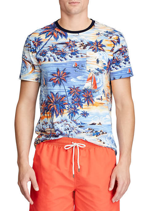 Polo Ralph Lauren Classic Fit Tropical-Print Tee