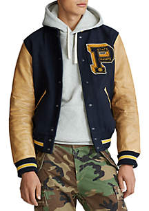 Polo Ralph Lauren Wool Blend Letterman Jacket