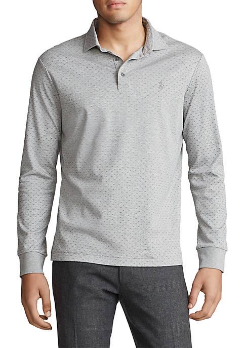 Custom Slim Long-Sleeve Polo Shirt