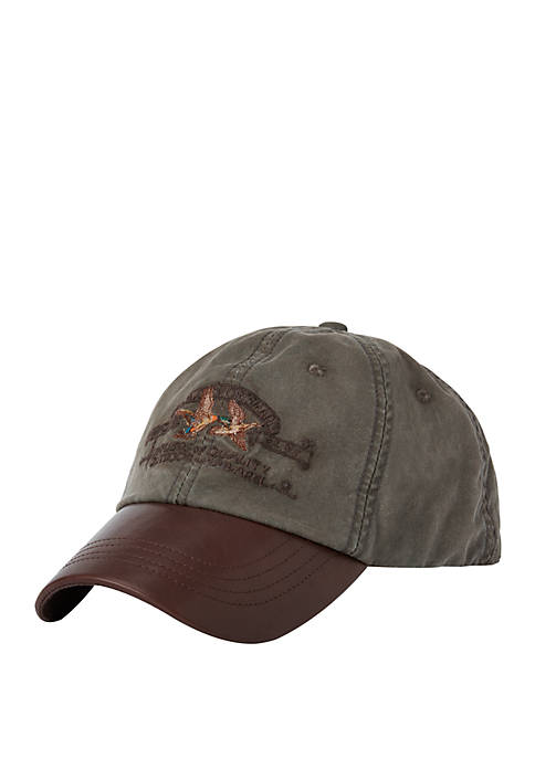 Leather Bill Canvas Sportsman Cap