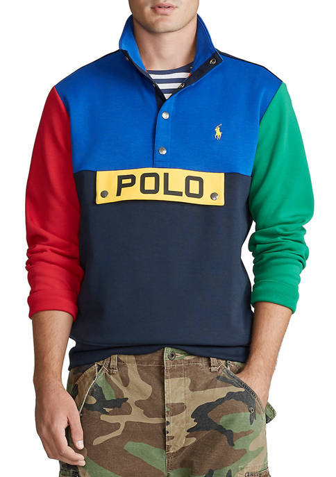 Color-Blocked Pullover
