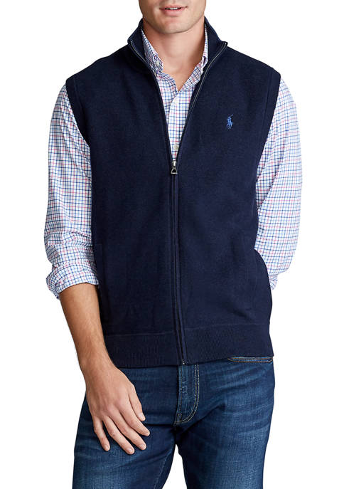 Cotton Full Zip Sweater Vest