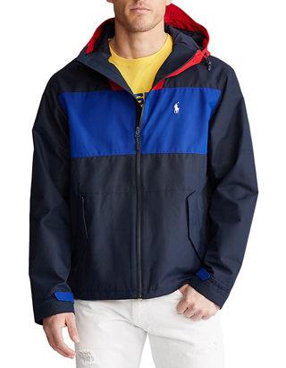 Color Blocked Hooded Jacket