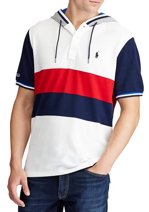 Polo Ralph Lauren Color-Blocked Mesh Hooded Shirt