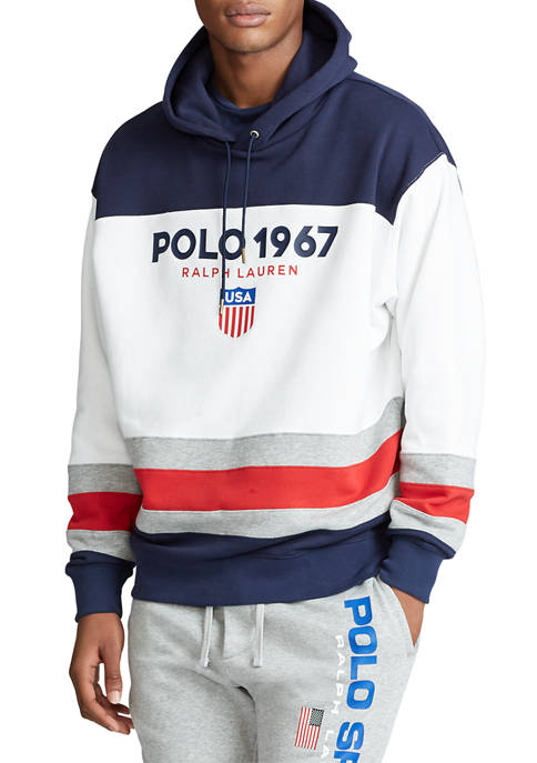 Polo Ralph Lauren Color-Blocked Fleece Hoodie