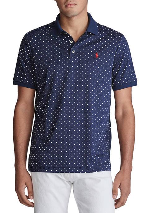 Classic Fit Polka Dot Soft Cotton Polo Shirt