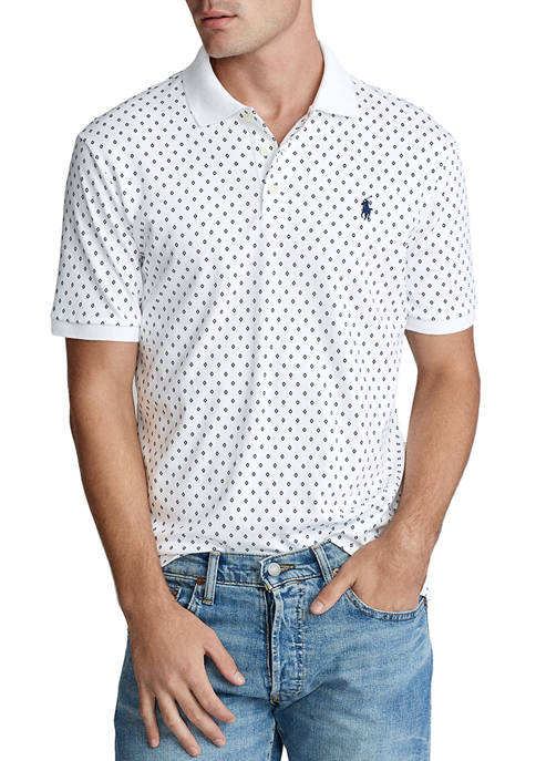 Classic Fit Print Soft Cotton Polo Shirt