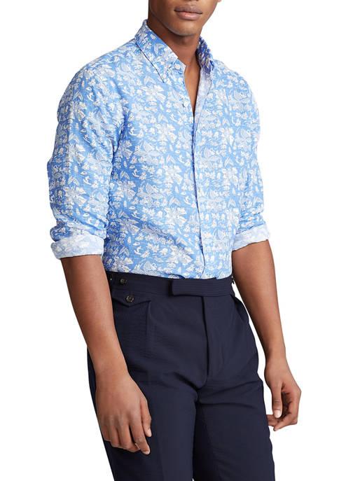 Classic Fit Tropical Linen Shirt
