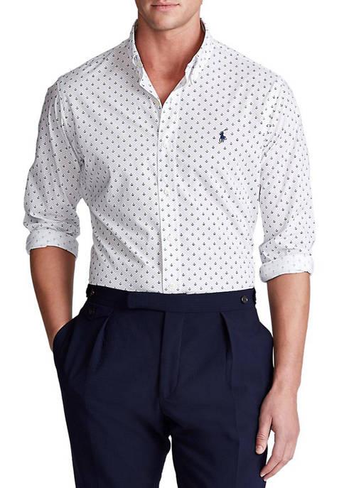 Slim Fit Dot Poplin Shirt