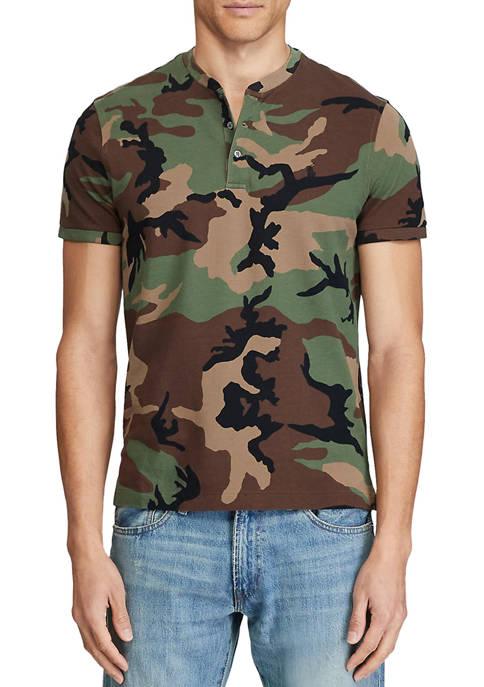 Polo Ralph Lauren Camo Mesh Henley Shirt