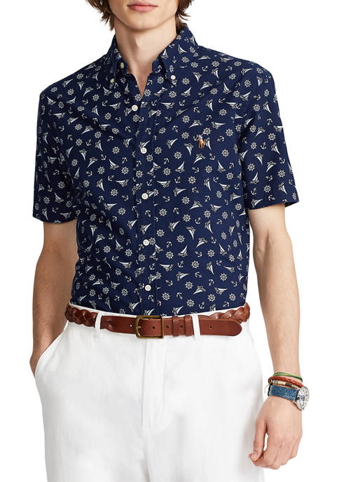 Classic Fit Printed Oxford Shirt