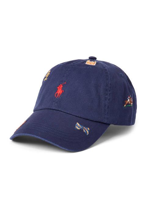 Polo Ralph Lauren Embroidered Cotton Chino Ball Cap