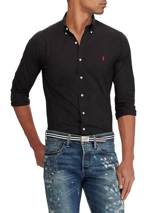 Classic Fit Checked Poplin Shirt