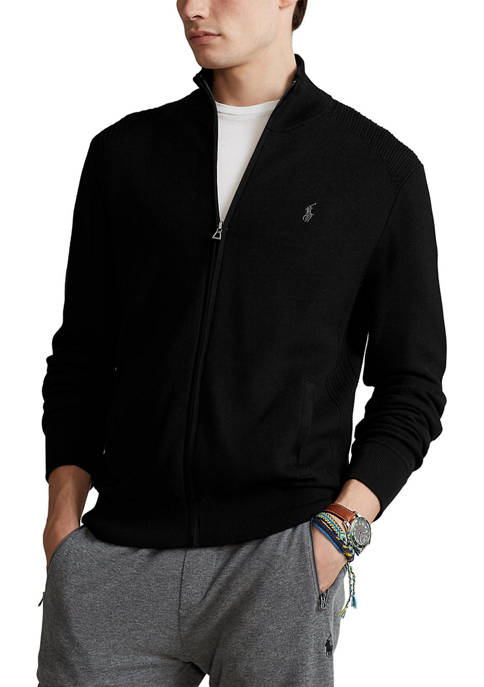 Polo Ralph Lauren Cotton Mesh Full Zip Sweater