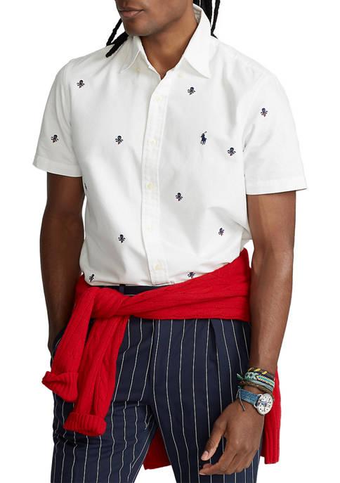 Polo Ralph Lauren Classic Fit Skull-and-Bones Oxford Shirt
