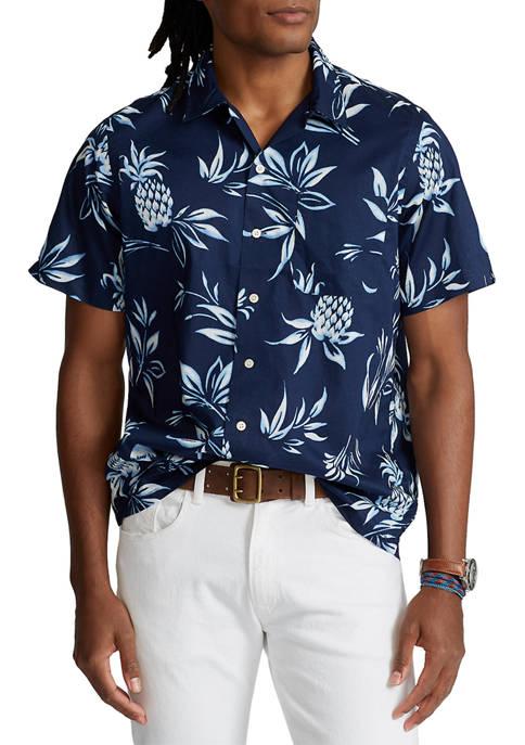 Polo Ralph Lauren Classic Fit Pineapple-Print Camp Shirt