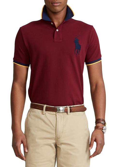 Classic Fit Big Pony Mesh Polo Shirt