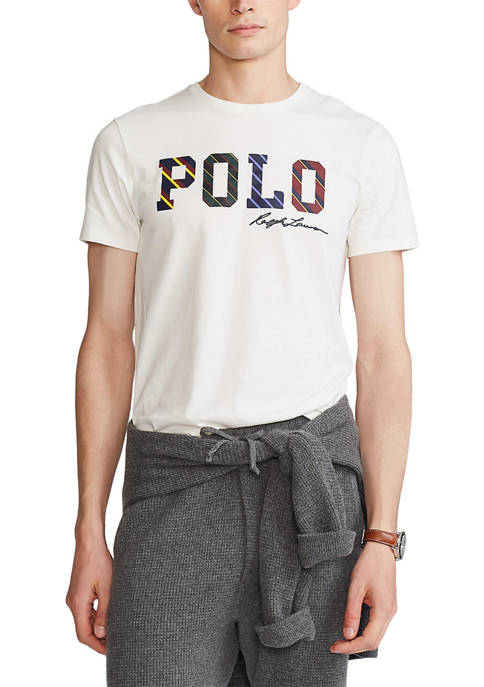 Polo Ralph Lauren Classic Fit Striped-Logo Jersey Graphic