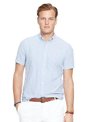 Polo Ralph Lauren Big Tall Short Sleeve Stripe Seersucker Shirt