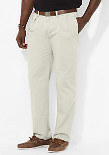 Big & Tall Classic-Fit Flat-Front Chino Pants
